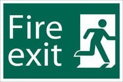 DRAPER 'Fire Exit' Safety Sign